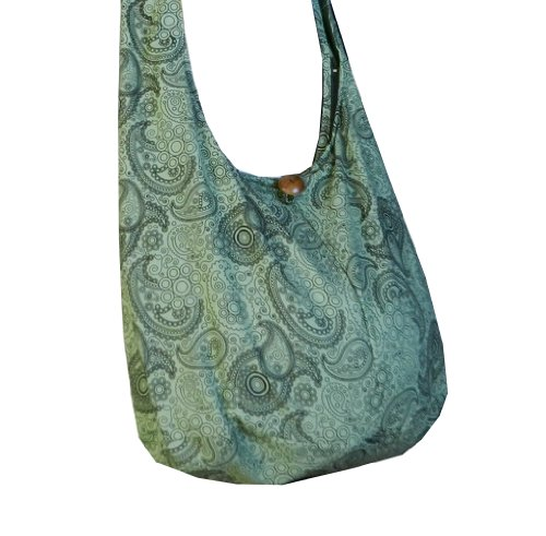 Large Olive Hobo Cotton Messenger Paisley Pl25 Purse Sling Hippie Print BTP Crossbody Thai Light Bag PqwfxtO