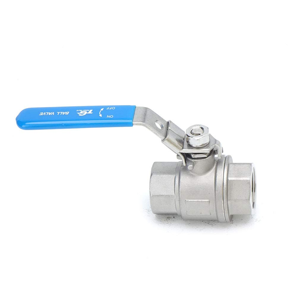 """Target Valve A2TL 2-PC Type Ball Valve 316/Stainless Steel Full Port 1000WOG for Water Oil and Gas with Lockable Lever NPT 1/"""" Ball Valve"""