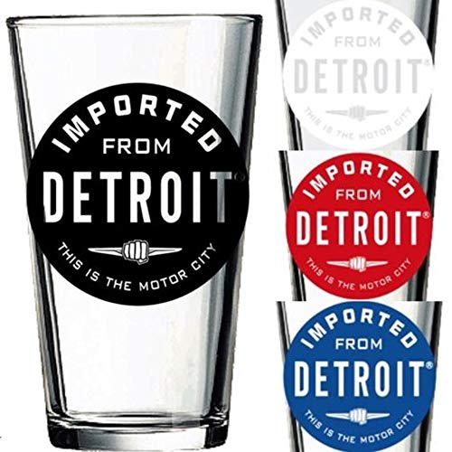 Imported From Detroit Pint Beer Glass (Black)
