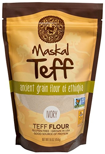Price comparison product image Maskal Teff Ivory Teff Flour,  16 Ounce
