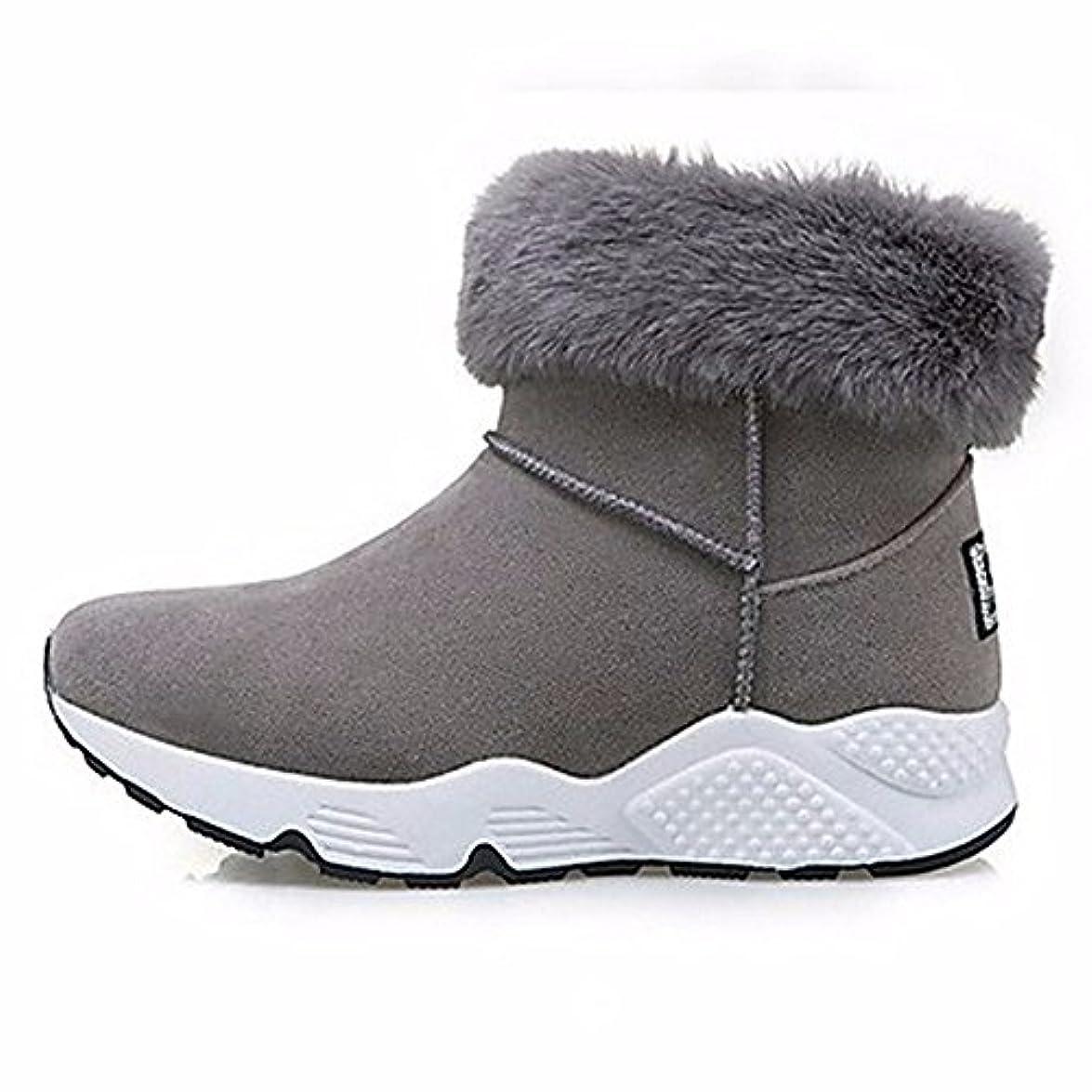 grigio Tacco Per Autunno Toe Grigio Piatto Snow Eu39 Cn39 Giunto Stivali Scarpe Uk6 Boots Us8 Rotondo Casual Nero Split Donna Zhudj
