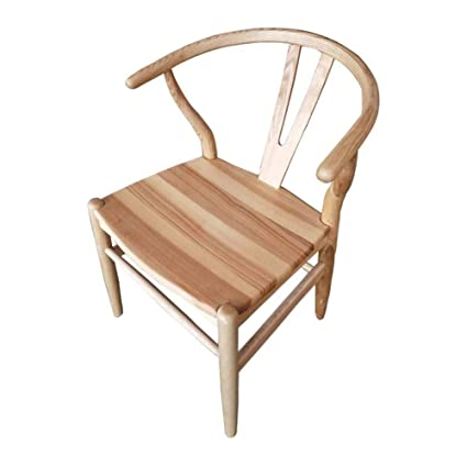 Amazon.com: CJC Silla de comedor de madera de fresno, silla ...