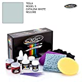 TESLA MODEL S / CATALINA WHITE - NEU100E / COLOR N DRIVE TOUCH UP PAINT SYSTEM FOR PAINT CHIPS AND SCRATCHES / PLUS PACK