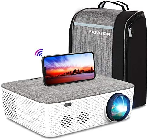 "WiFi Projector Native 1080P Projector, FANGOR 701 Video Projector Bluetooth/Full Sealed Design/Digital Keystone/300"" Display/50%Zoom 8500L Movie Projector Support 4K, for phone/PC/XBox/PS4/TV Stick"