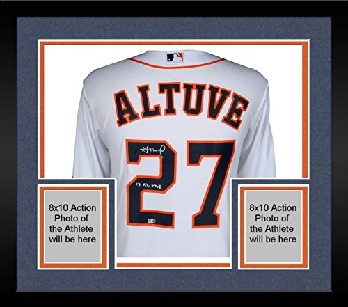 Framed Jose Altuve Houston Astros Autographed Majestic White Replica Jersey with