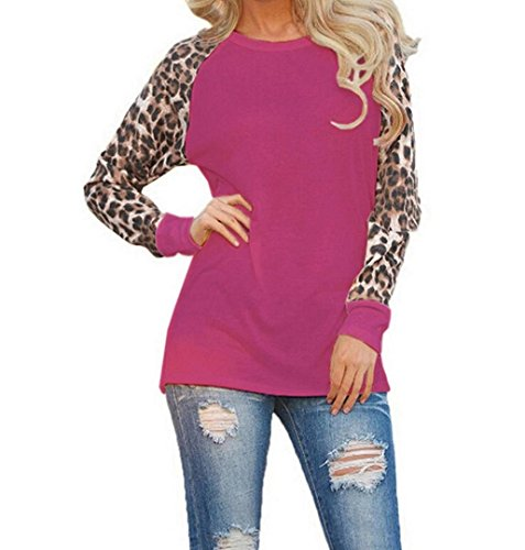 ZEZKT☀Frauen Leopard T-Shirt Kurze Bluse Crop Bluse Hemd Schulterfrei  Oberteile Sommer Frau c0b2b8d49e