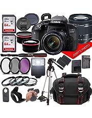 Canon EOS 800D (Rebel T7i) DSLR Camera w/Canon EF-S 18-55mm F/4-5.6 is STM Zoom Lens + Case + 128GB Memory (28pc Bundle)