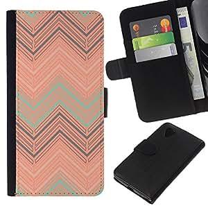 For LG Nexus 5 D820 D821 Case , Art Deco Vintage Wallpaper Art - la tarjeta de Crédito Slots PU Funda de cuero Monedero caso cubierta de piel