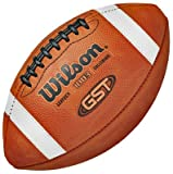 Wilson NCAA 1003 GST Leather Game Footballs TAN LEATHER OFFICIAL (SET OF 6)