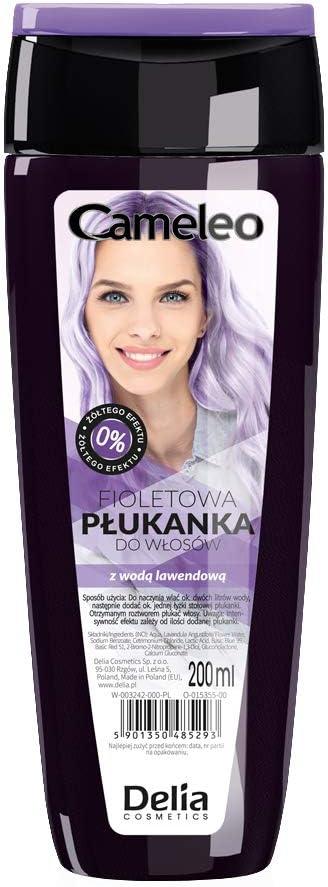 Delia Cameleo - Tinte violeta para cabello rubio decolorado, matizador, 200 ml