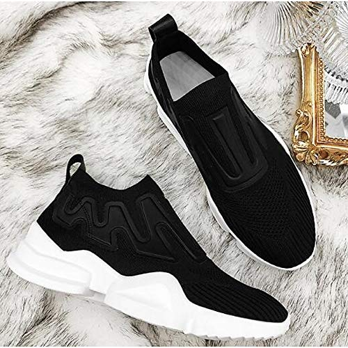 con Zapatos Cerrado de Mujer Red roja Negra Spring Heel ZHZNVX Sneakers Summer Comfort Flat Mesh Punta PdqwPpv