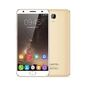 OUKITEL K6000 Plus Smartphone- Android 7.0, Pantalla 5.5 pulgadas, MTK6750T 64-bit Octa Core, 4GB RAM+64GB ROM, 8MP+16MP Cámara, Huella Digital, 12V/2A Carga Rápida, 6080mAh Carga Reversa