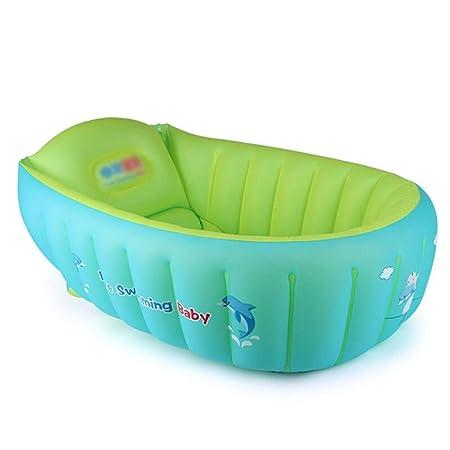 W&NR Bañera Inflable for niños Plegable Antideslizante ...