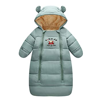 4acb52d9b Amazon.com   Milkiwai Newborn Baby Winter Thick Fleece Warm Sleeping ...