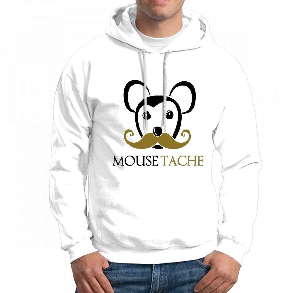 CopyBoy Store Customizable Personalized Mouse Moustache Hoodie Sweatshirt