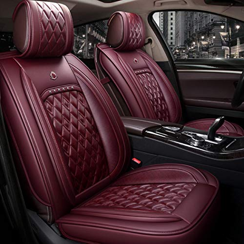 WL Easy To Clean PU Leather Car Seat Cushion 5 Seats Full Slip Non-Slip Suede Backing Universal Suitable,B: Sports & Outdoors