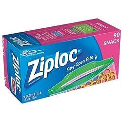 Ziploc Snack Bags With Easy Open Tabs 90 ct (2 Pack)