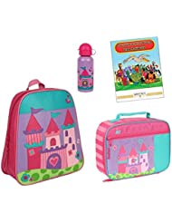 Stephen Joseph Go Go Backpack, Lunch Box, Bottle & Coloring Book
