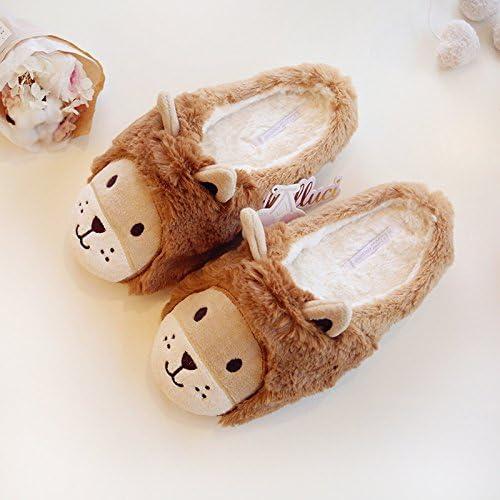HEBeauty Wonderland Little Lion Cute Ear Plush Slippers Warm Household Shoes Anti-Slip 4