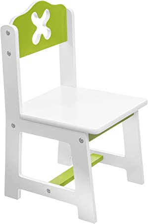 Bieco 79199202 Kinder Stuhl Weißgrün Sitzfläche Ca 26 X 26 Cm