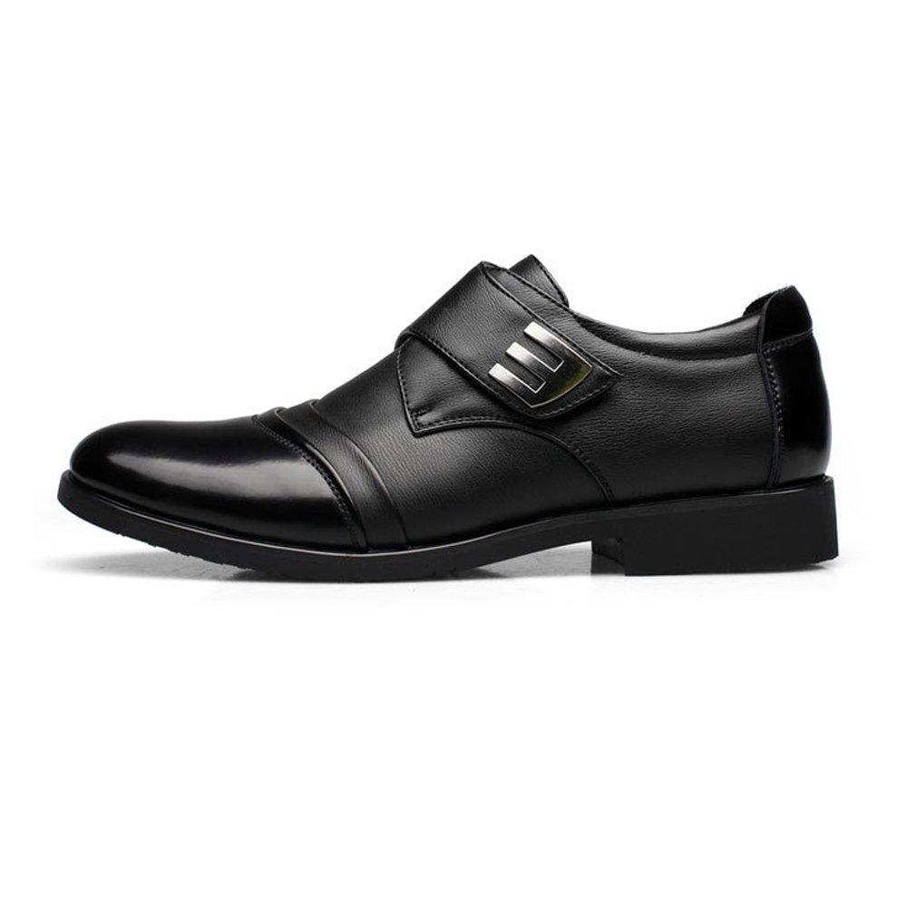 e607db2948dc Amazon.com: Hilotu Men's Oxford Shoes Splice Vamp Hook & Loop Strap ...
