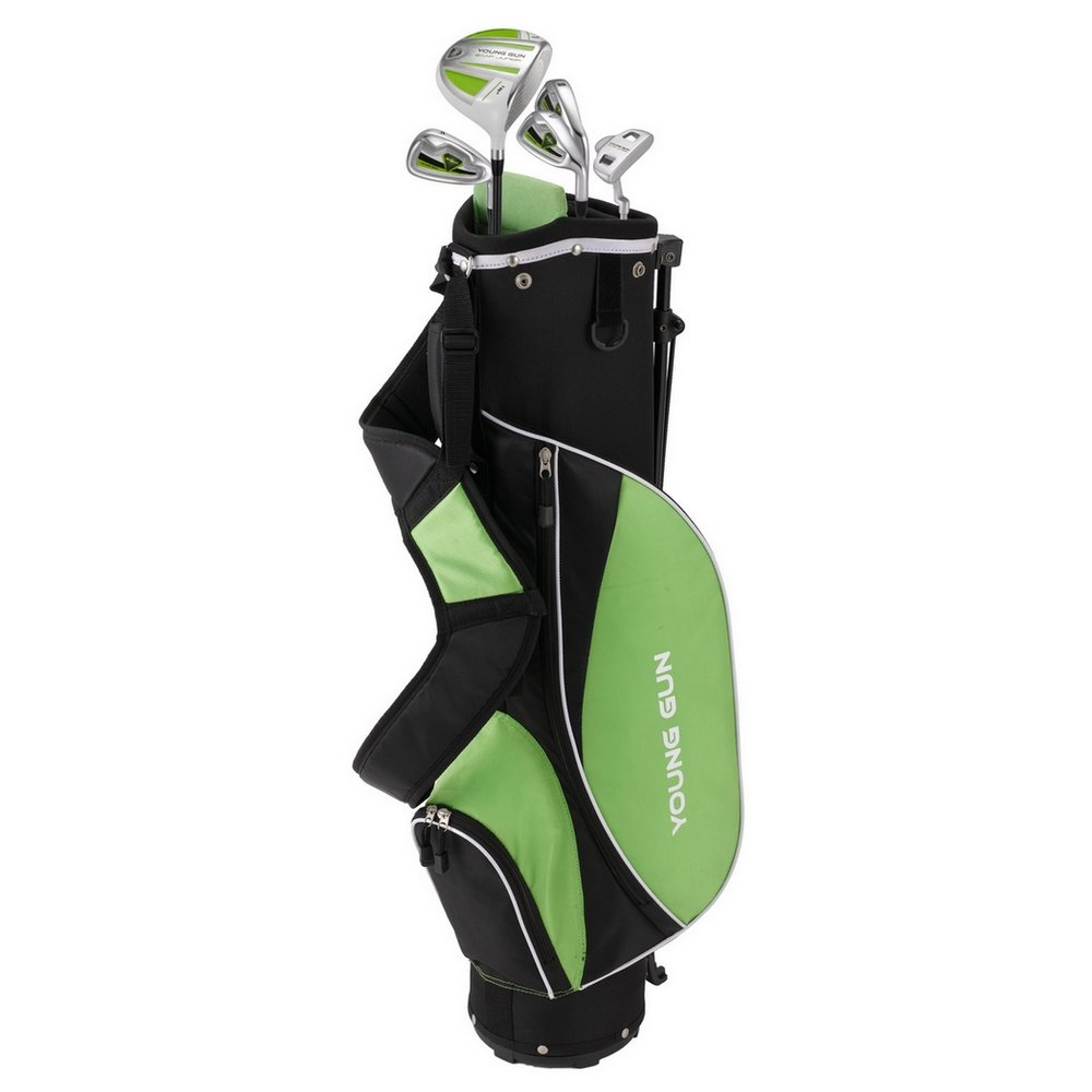 Young Gun ZAAP ACE Green Junior Golf Club Youth Set & Bag for Kids Ages 12-14