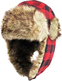 Buffalo Plaid Aviator Trapper Hat Trooper Winter Cap Ski