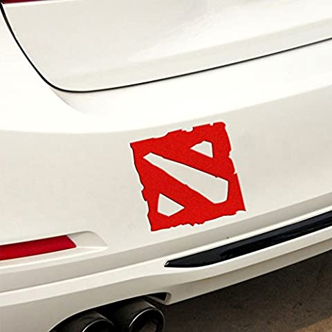 Kaizen Dota 2 Bumper Sticker Graphics Decals Scratch Cover For Cars Vinyl Sticker For Volkswagen,Toyota,Honda,Chevrolet,Ford,Mercedes Benz,Audi,BMW and Any SUV,Truck or Sedan Car Color - 2 Decal Bumper Sticker