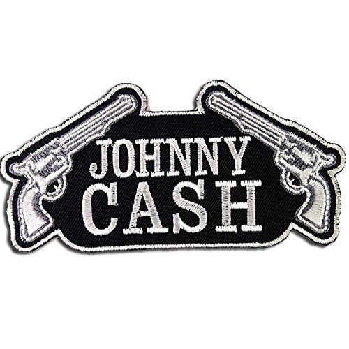 Johnny Cash Patch Band Embroidered Iron On (Johnny Cash Patches)