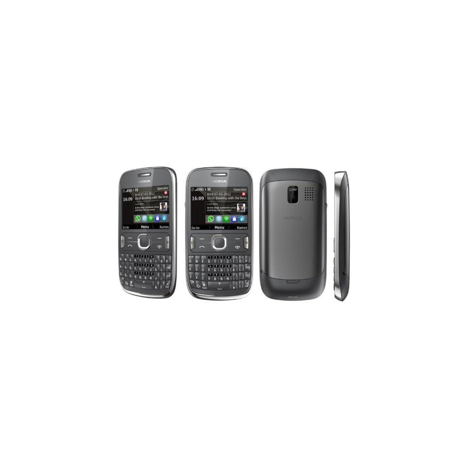 Nokia Asha 302 Gray Unlocked Smartphone   3G 850/900/1900/2100   U.S. Version with Warranty