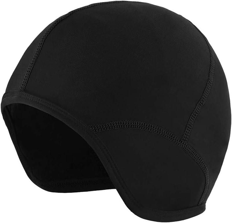 Festnight Sports de Plein air Hommes V/élo Bonnet V/élo Doublure De Casque De V/élo Ski Polaire Coupe-Vent Bandana Hiver Chapeaux Chapeau