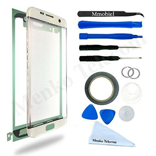 MMOBIEL Front Glass for Samsung Galaxy S7 Edge (Gold) G935 Series Display Touchscreen incl Tool Kit / Pre-cut Sticker / Tweezers / Roll of Adhesive Tape / Suction Cup / Metal Wire / cleaning cloth