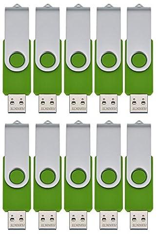 FEBNISCTE USB 2.0 Swivel Flash Drive Memory Stick Pendrive ,