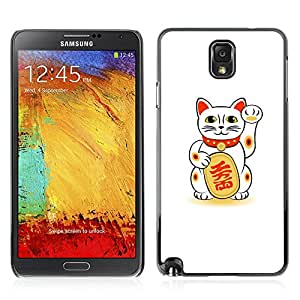 Carcasa Funda Case // V0000740 Maneki-Neko Lucky Cat //Samsung Galaxy Note 3 N9006