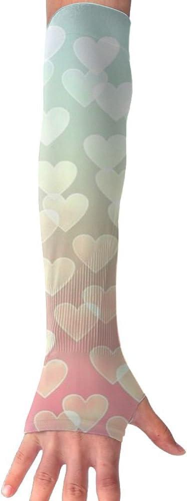 MASDUIH Love Gloves Anti-uv Sun Protection Long Fingerless Arm Cooling Sleeve For Men And Women