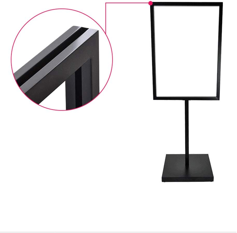 Plug-in Iron Frame for 19 x 27//25 x 35 Inch Graphics Trade Shows Suitable for Hotels Double-Sided Display Sign Holder Shopping Centers Even Pedestal Poster Stand