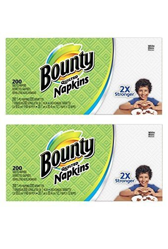 Four Napkins (Paper Napkins, White or Printed, 200 Count (2 Packs = 400 Napkins))