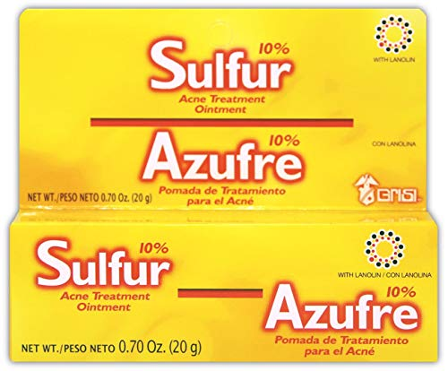 Sulfur Grisi Acne Treatment Ointment | Sulfur Ointment for Acne Treatment, Helps Clear Up Pimples and Blemishes; 0.70 Ounces
