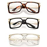 ''Rox'' Thick Frame Rapper 80's 90's Retro Design Clear Lens Frames
