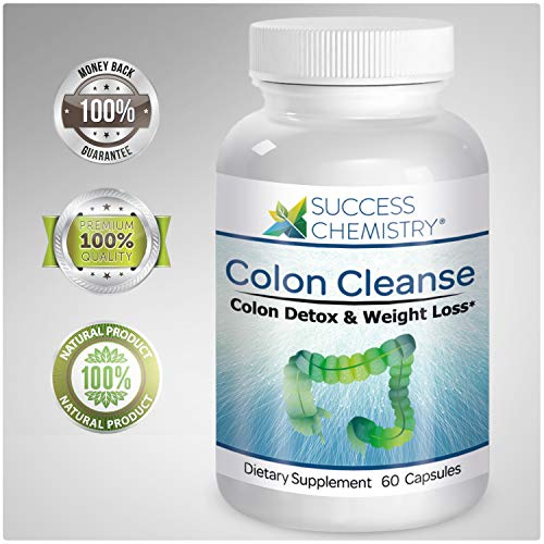 Colon Cleanse & Natural Body Detox - Weight Loss & Increased Energy Levels. Removes Toxins. Relieve Bloating. Extra Strength. Non-GMO | by Success Chemistry®