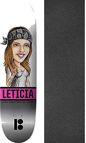 Plan B Skateboards Leticia Bufoni Mvp Horns Skateboard Deck   8  X 31 75  With Black Magic Griptape   Bundle Of 2 Items