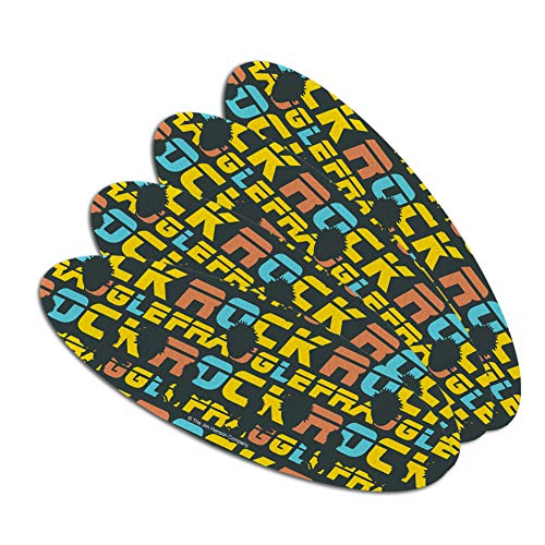 Fraggle Rock Gobo Silhouette Pattern Double-Sided Oval Nail File Emery Board Set 4 Pack ()