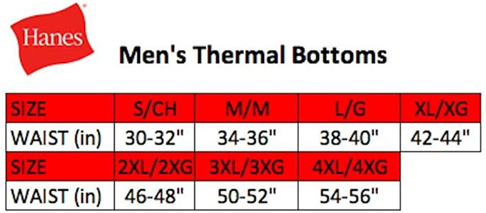 Hanes Mens Ultimate Thermal Pant with FreshIQ X-Temp Technology /& Organic Cotton