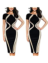 Fashion Womens Sexy Bodycon Party Business Style Pencil Mini Dress S-5XL