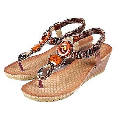Wome's Boots Invierno Mary Jane PU Casual Chunky tal¨®n,Amarillo,US6 UE36 UK4 CN36 US5.5 / EU36 / UK3.5 / CN35