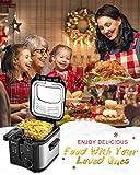 Electric Deep Fryer, M Minca 1500W Oil Fryer with