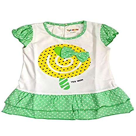 d25faa6d496d Yes Mom Beautiful Designer Baby Girl Sleeveless Frog Dress for 12-18 Months   Amazon.in  Baby