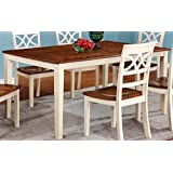 furniture of america cherrine country style dining table oakvintage white - Kitchen Tables Wood