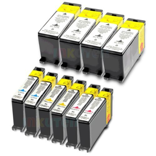 Compatible Lexmark 100XL 10-Set High Yield Ink Cartridges: 4