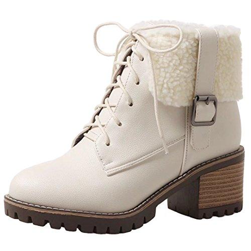 AIYOUMEI Women's Classic Boot Beige nuU6w